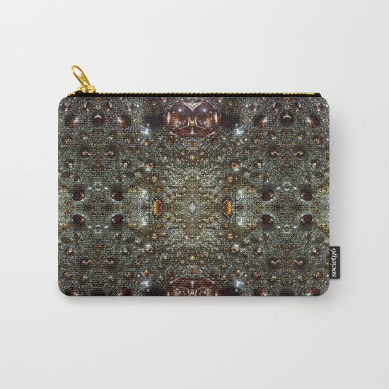 Abstract brown, dark gray texture pattern Carry-All Pouch