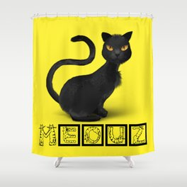 Meouz Cat Shower Curtain