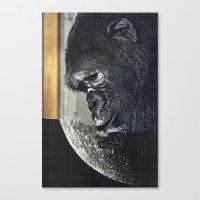 gorilla Canvas Prints featuring gorilla by Hugo Barros
