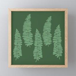dancing ferns tropical pattern Framed Mini Art Print