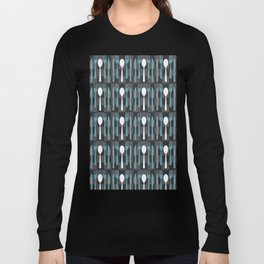 Checkered Silverware Pattern Long Sleeve T-shirt