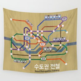 Seoul Metro Wall Tapestry
