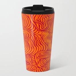 orange red flow Metal Travel Mug