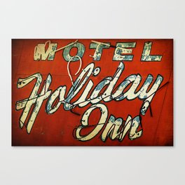 Motel Holiday Inn Route 66 Canvas Print