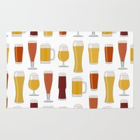 beer Area & Throw Rugs featuring Beer  by Cute to Boot