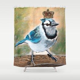 Royal Blue Jay Shower Curtain