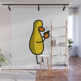 Little Orange Duck | Veronica Nagorny Wall Mural