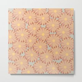 Retro Sunflower Metal Print