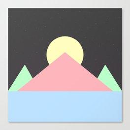 Pastel Space Pyramids Canvas Print