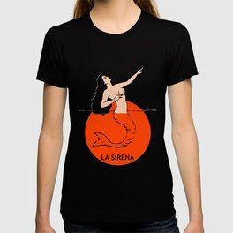 La Sirena Loteria - Mexican Bingo Card T-shirt