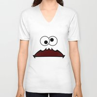 cookie monster V-neck T-shirts featuring Cookie shirt by Shine Out