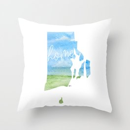 Rhode Island Home State Throw Pillow