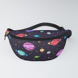 Alien Planets Pattern Fanny Pack