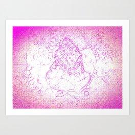 Pink siege Art Print