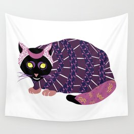 Abstract Black Cat Wall Tapestry