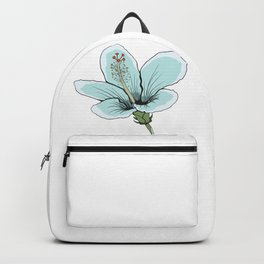 Hawaiin Blue Hibiscus Flower Backpack