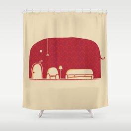 Elephanticus Roomious Shower Curtain