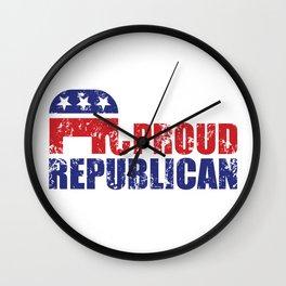 Proud Republican Elephant Distressed Wall Clock