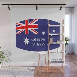 Australia Day Flag Wall Mural