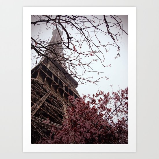 Eiffel Tower in Spring Art Print