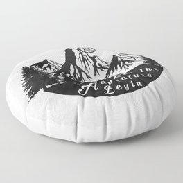 Let the adventure begin - mountain biking Floor Pillow