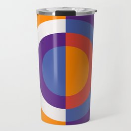 Circles Number Two - Red And Blue Travel Mug