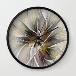 Floral Abstract, Fractal Art Wall Clock