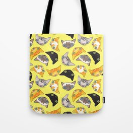 """""""Oro?"""" Cats-Canary Yellow Tote Bag"""