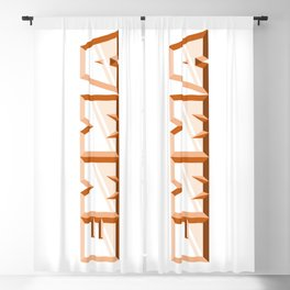 """EMMA"" first name orange pattern Blackout Curtain"
