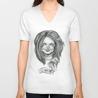 ginger V-neck T-shirts featuring Ginger by Taylor Bryn Illustration
