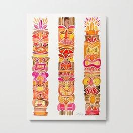 Tiki Totems – Fiery Palette Metal Print