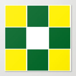 Team Colors 3 .... yellow ,green Canvas Print