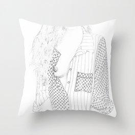 Free the Nipple | Sketch | Boob | Throw Pillow