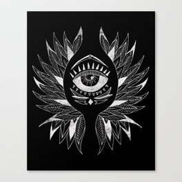 Wing & eye Canvas Print