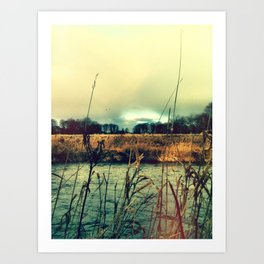 Across the water. Art Print
