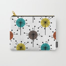 Atomic Era Sputnik Starburst Flowers Carry-All Pouch