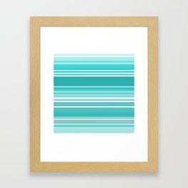 Gradient blue Framed Art Print