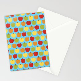 Apples Over Blue Stationery Cards