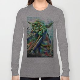 Yoda Painting Long Sleeve T-shirt