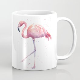 Flamingo Watercolor Pink Bird Coffee Mug