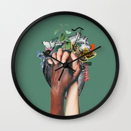 fight racism Wall Clock