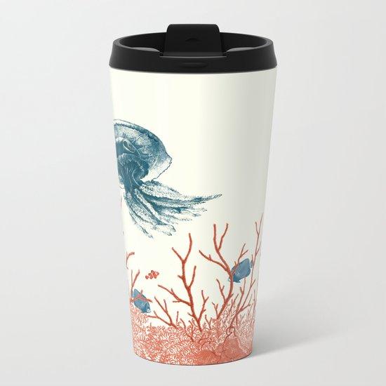Aquatic Pattern Metal Travel Mug