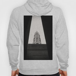 Mather Tower Building Top Chicago Black and White Photo Hoody
