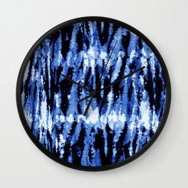 Blue Shibori Z Wall Clock