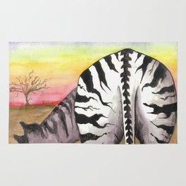 Zebra Moon Rug