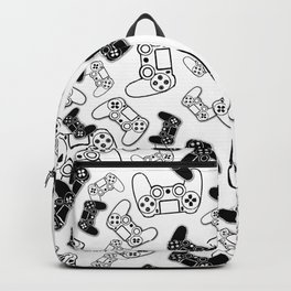 Video Games Black on White Backpack