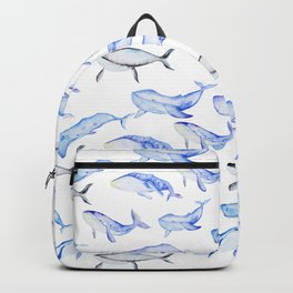Watercolor Whales Backpack