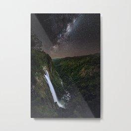 Ellenborough Falls By Night Metal Print
