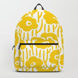 Mid Century Modern Wild Flowers Yellow Backpack