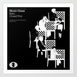 Baku World Chess Grand Prix 2014 Art Print